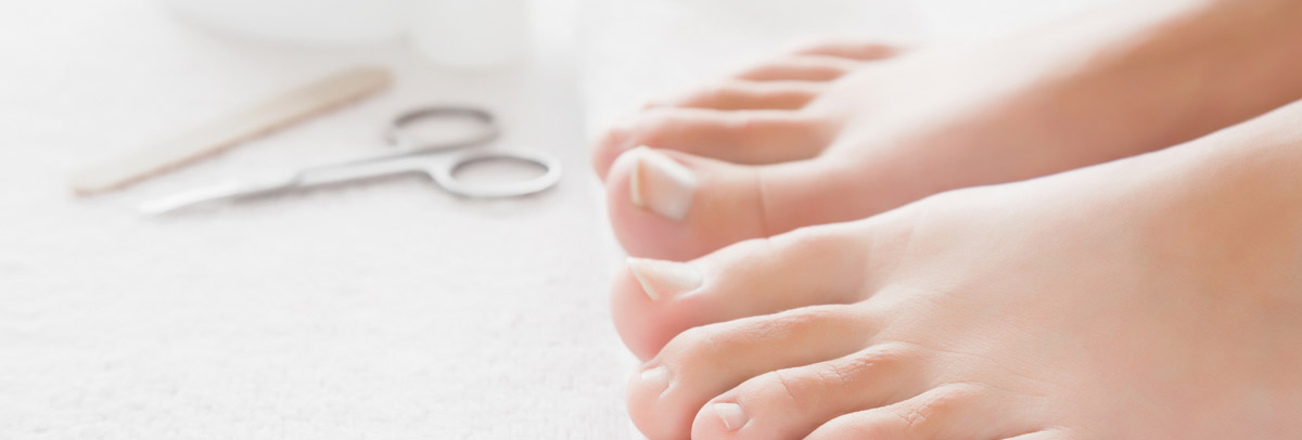 Someone's feet after undergoing our fungus toenail treatment near Morley and Bayswater